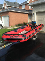 Mercury Marine Inflatable Boat with 25HP Motor