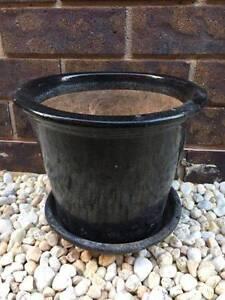 Glazed Ceramic Pot - Black Bentleigh East Glen Eira Area Preview