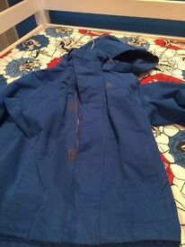 Kids blue trespass jacket 5/6