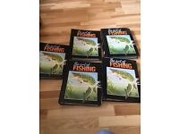 5 binders of the art of fishing magazines collection