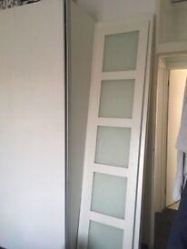 White ikea pax wardrobe