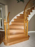 Solid oak stairs custom installation from $998.00