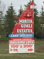 2 SIDE BY SIDE LOTS FOR SALE IN NORTH GIMLI ESTATES