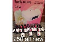 Brand new gel nail kit ideal starting kit or as a present CAN POST £4 tracked