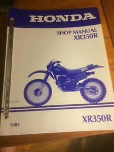 1983 Honda XR350R Shop Manual