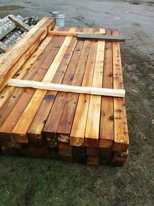 Cedar fence posts! 4x4x8 $17.00 each, located in Creston BC