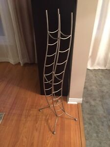 Brushed chrome wine rack  Kitchener / Waterloo Kitchener Area image 1