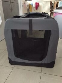 Fabric medium/large dog crates 2 for sale grey and pink