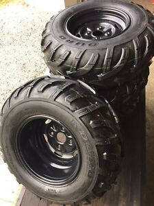 NEW ATV TIRES AND RIMS - (((( COMPLETE SET )))) Sarnia Sarnia Area image 1