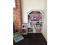 Barbie doll wooden house