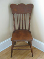 4 identical antique chairs
