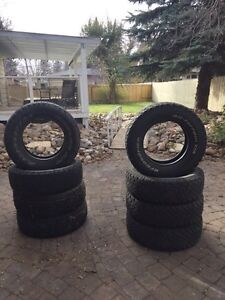 2 sets of truck tires