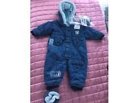 Denim all in one suit 3-6months