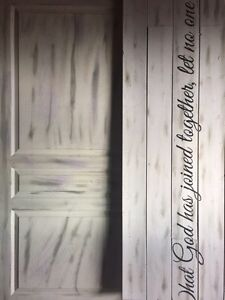 Beautiful wedding Sign; What god has joined together