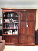 Solid Cherry Gibbard Bookcase and Entertainment Unit