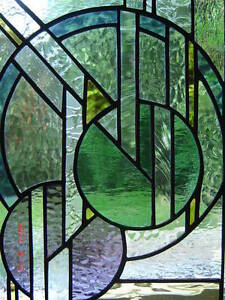 "Stained Glass Art-Deco panel-11"" x 16""--NEW Kingston Kingston Area image 4"