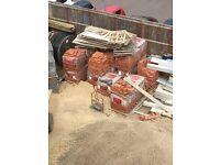 18 pallets of stock orange/red bricks for sale