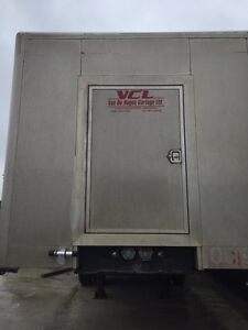 Flatbed Enclosed Trailer - 6 axle