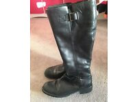 Clarks ladies knee high boots size 6
