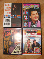 Various Stand Up comedy DVDs.