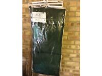 X 2 lounger mats pads for garden deck chairs brand new green never used