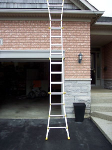 17 Feet Aluminum Multi-Position Folding Ladder