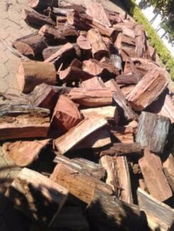 ONE TONNE DRY SPLIT JARRAH FIREWOOD DELIVERED STACKED FIRE WOOD