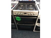 BELLING 60CM ALL GAS COOKER IN SILIVER WITH LID