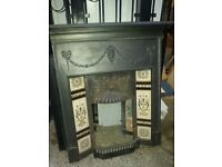 Lovely ornate cast iron victorian fireplace surround