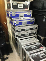 Roadcases of different sizes