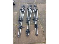 Thule roof bars kit and 3 x bike carriers