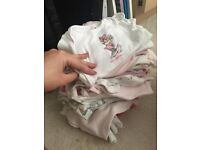 Newborn/first size baby grow and vest bundle