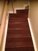 Cover stairs in laminate or ardwood