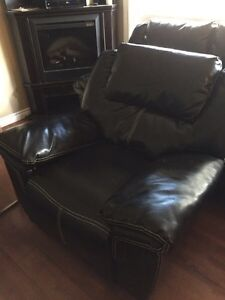 Black Bonded Leather Cole ch and recliner chair