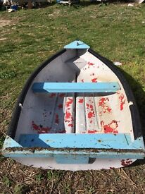 8ft dingy/tender with wheels outboard available