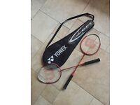 2 WILSON Badminton Racquets & YONEX Carry Bag