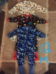 12 month toddler footed pjs