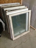 Old Vintage Wooden Windows - $10- 30 each different shapes/sizes