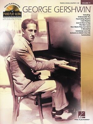 George Gershwin Sheet Music Piano Play-Along Book and CD NEW 000102687