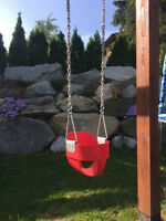 Highback Full Bucket Swing - Red
