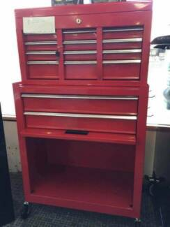 2 in 1 Unit 8 Drawer Roller Cabinet Tool Chest Tool Box