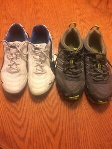 SIZE 5 PUMA'S &  ADIDAS RUNNERS