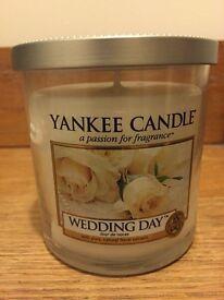 Wedding day Yankee candle tumbler 198g