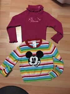 *New* 2 Disney Store Girl sweaters (size 4/5 &5/6)