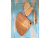 Two wooden corner shelves, take both for only £2