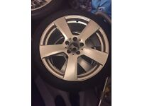 Winter Wheels with alloys included
