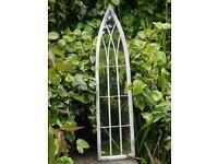 Garden Metal Vintage Style Metal Arch Mirror SM