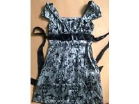 Jane Norman silky satin baby doll dress with side zip