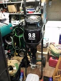 Outboard Motor 9.8hp,comes with 25 litre tank & connection