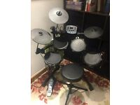 SPUR TD82 Electronic Drum Kit + Headphones + AMP + Stool.